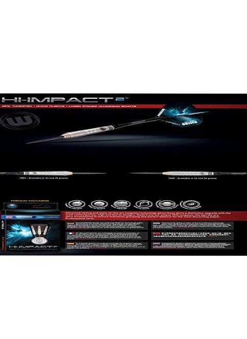 Winmau Hi-Impact 2 95% Tungsten 25 Gram Renkli